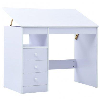 Dětský kreslicí a psací stůl - náklopný | bílý