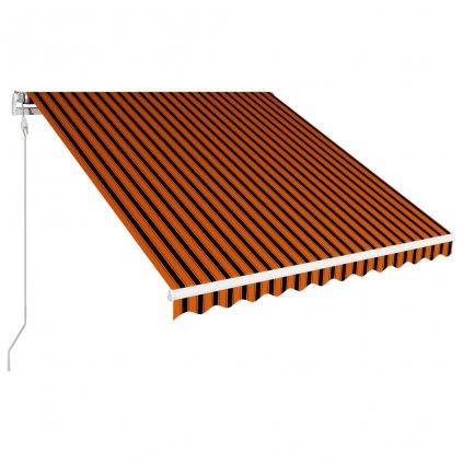 Automatická zatahovací markýza Regina - 350 x 250 cm | oranžovo-hnědá
