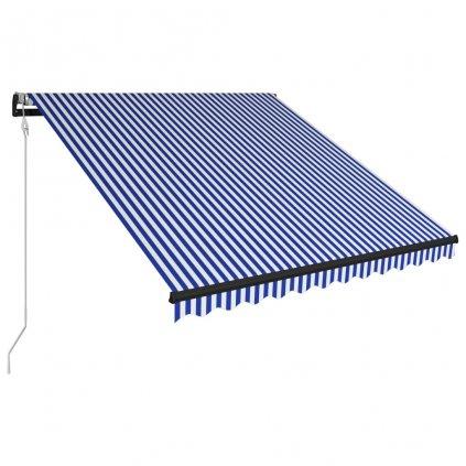 Automatická zatahovací markýza Regina - 300 x 250 cm | modrobílá