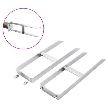 Kotevní patky pro WPC plot - 2 ks - ocel | 40 cm