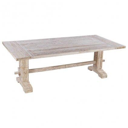 Jídelní stůl Jonnas - masivní teakové dřevo   220x100x75 cm