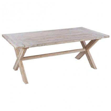 Jídelní stůl Geelong - masivní teakové dřevo | 200x100x75 cm