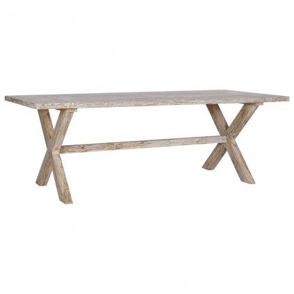 Jídelní stůl Flourrs - masivní teakové dřevo   220x100x75 cm