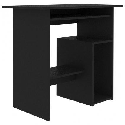Psací stůl Subiaca - dřevotříska - černý   80x45x74 cm