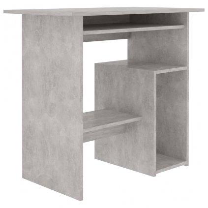 Psací stůl Eadlly - dřevotříska - betonově šedý | 80x45x74 cm