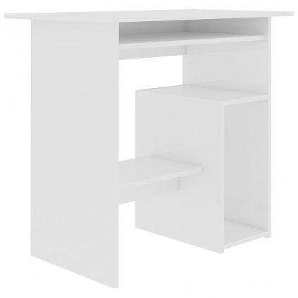 Psací stůl Cammetery - dřevotříska - bílý s vysokým leskem   80x45x74 cm