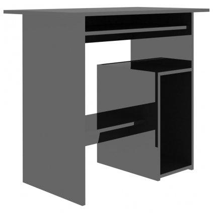 Psací stůl Briggs - dřevotříska - černý s vysokým leskem   80x45x74 cm
