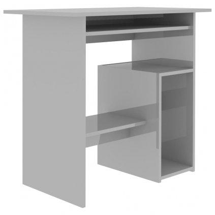 Psací stůl Oakford - dřevotříska - šedý s vysokým leskem | 80x45x74 cm