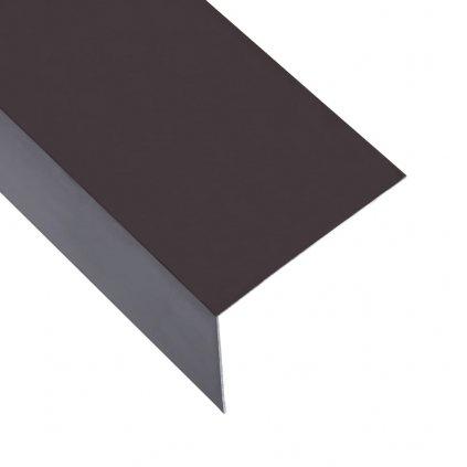 Úhlové lišty ve tvaru L - 5 ks - hliník - hnědé   170 cm - 100x50 mm