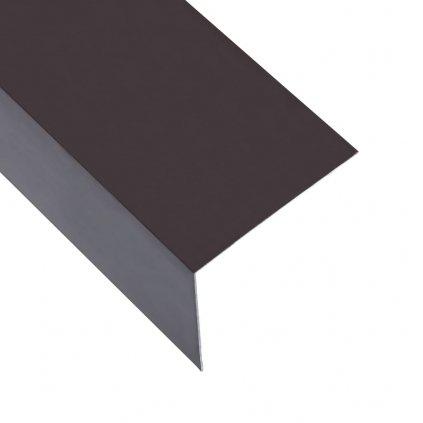 Úhlové lišty ve tvaru L - 5 ks - hliník - hnědé   170 cm - 100x100 mm
