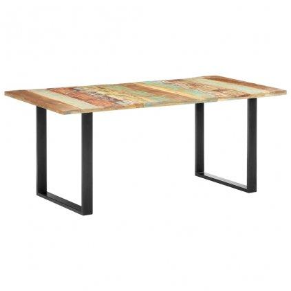 Jídelní stůl Dermot - masivní recyklované dřevo   180x90x76 cm