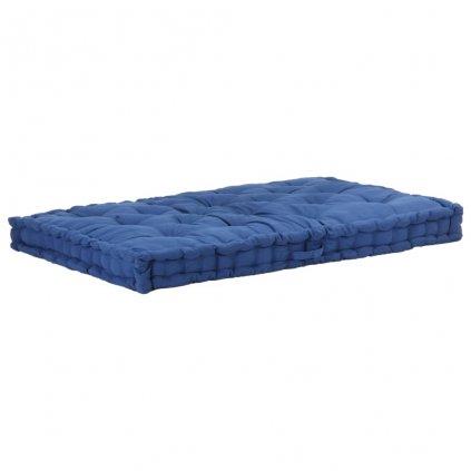 Poduška na nábytek z palet - bavlna - světle modrá | 120x80x10 cm