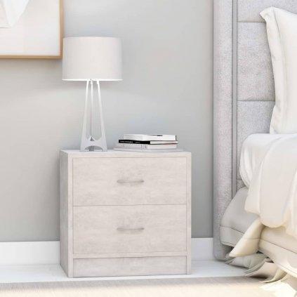 Noční stolek Meeker - MDF - 40x30x40 cm | betonově šedý