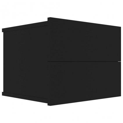 Noční stolek Pepper - dřevotříska - černý   40x30x30 cm
