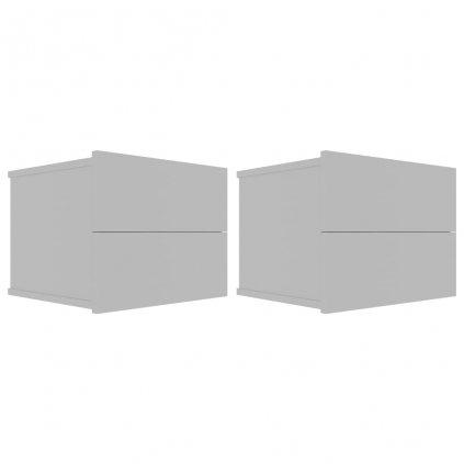 Noční stolky Noone - 2 ks - šedé | 40x30x30 cm