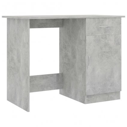 Psací stůl Issle - dřevotříska - betonově šedý | 100x50x76 cm