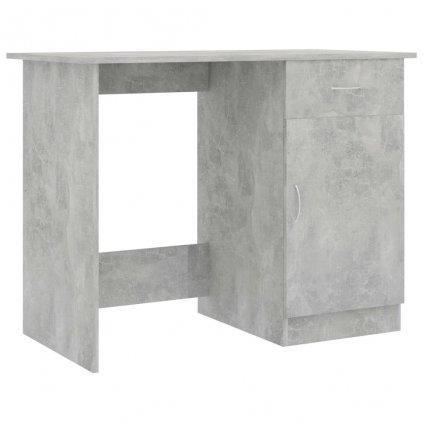 Psací stůl Issle - dřevotříska - betonově šedý   100x50x76 cm