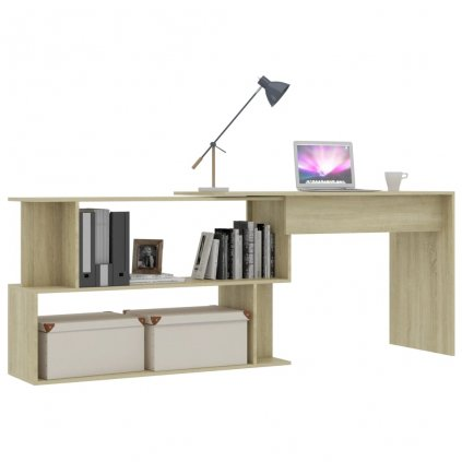 Rohový psací stůl Simple - dub sonoma   200x50x76 cm