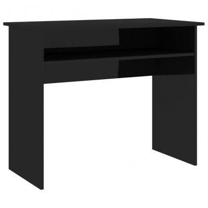 Psací stůl Pillbala - dřevotříska - černý s vysokým leskem | 90x50x74 cm