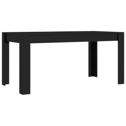 Jídelní stůl Clyde - černý vysoký lesk - dřevotříska | 160x80x76 cm