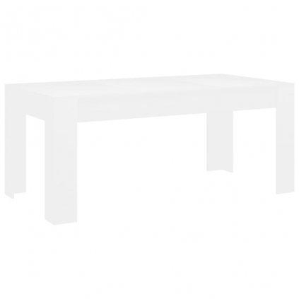Jídelní stůl Clyde - bílý - dřevotříska   180x90x76 cm