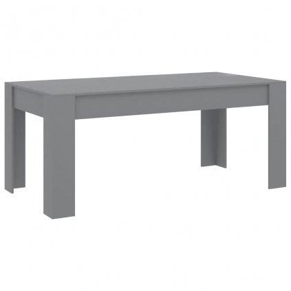 Jídelní stůl Ximmis - dřevotříska - šedý | 180x90x76 cm