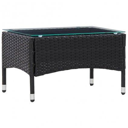 Konferenční stolek Paddles - černý | 60x40x36 cm