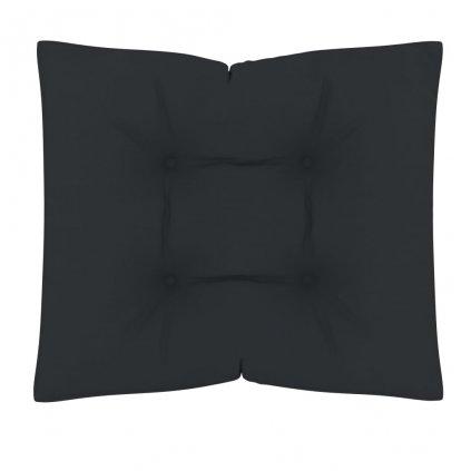 Poduška na nábytek z palet - antracitová | 60x61x10 cm
