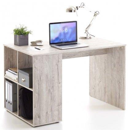 Psací stůl s bočními policemi Fiji - pískový dub | 117x73x75 cm
