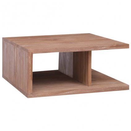 Konferenční stolek Follett - 70 x 70 x 30 cm | masivní teakové dřevo