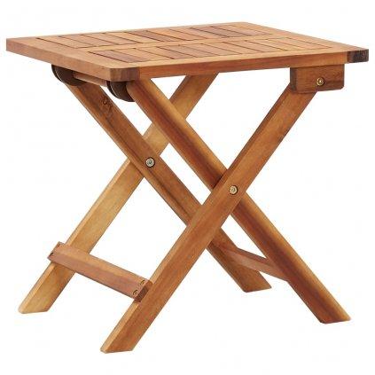 Skládací zahradní konferenční stolek Yelltis - 40x40x40 cm   masivní akácie