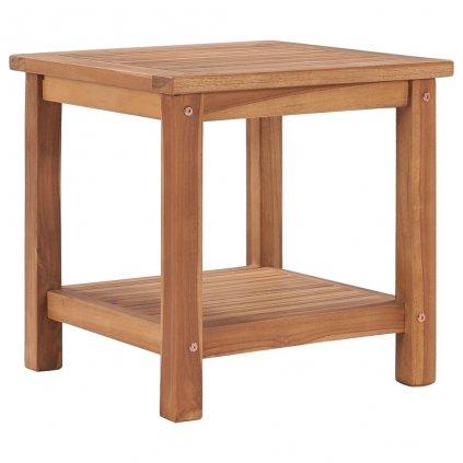 Konferenční stolek Wheeler - 45 x 45 x 45 cm | masivní teakové dřevo
