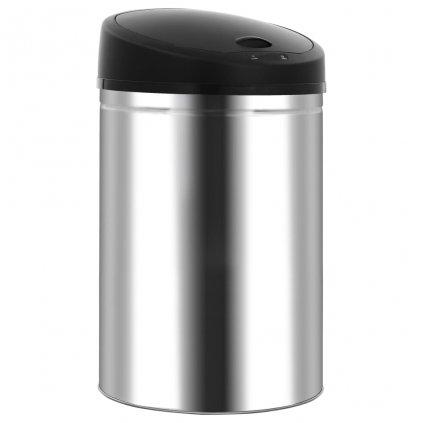 Bezdotykový odpadkový koš - nerezová ocel | 42 l