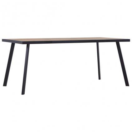 Jídelní stůl Jawsh - světlé dřevo - černý | 200x100x75 cm