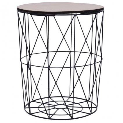 Konferenční stolek Datil - O47 cm   černý