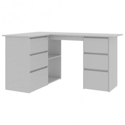 Rohový psací stůl Blanchard - dřevotříska - šedý | 145x100x76 cm