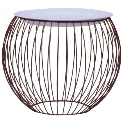 Konferenční stolek Lewis - zlatý   Ø 51 cm