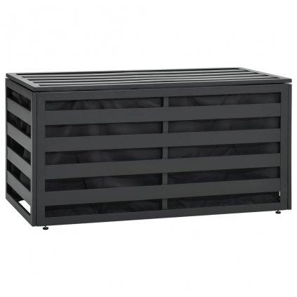 Zahradní úložný box - hliník - 100x50x50 cm | antracitový
