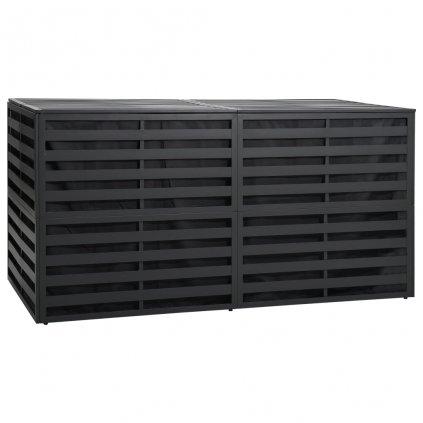 Zahradní úložný box - hliník - 200x100x100 cm | antracitový