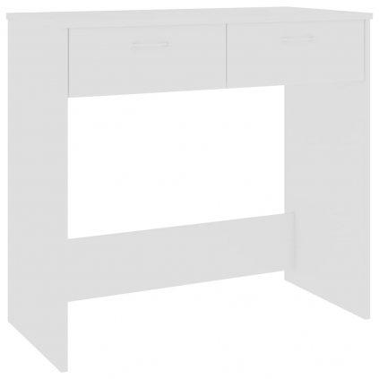 Psací stůl Sensey - dřevotříska - bílý | 80x40x75 cm