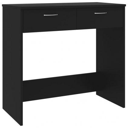 Psací stůl Sensey - dřevotříska - černý | 80x40x75 cm