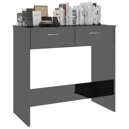 Psací stůl Sensey - černý s vysokým leskem | 80x40x75 cm