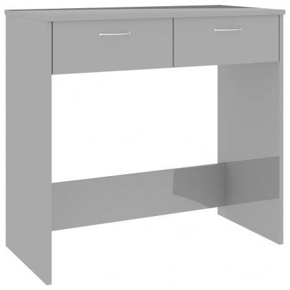 Psací stůl Sensey - dřevotříska - šedý s vysokým leskem | 80x40x75 cm