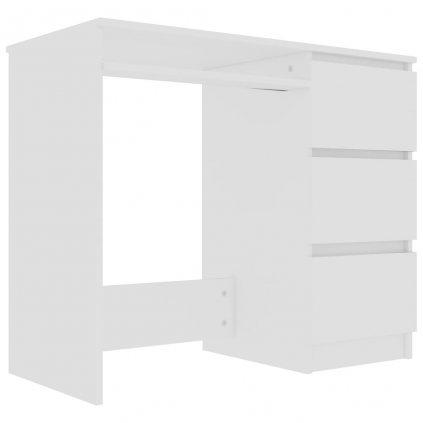Psací stůl Lyggon - dřevotříska - bílý | 90x45x76 cm