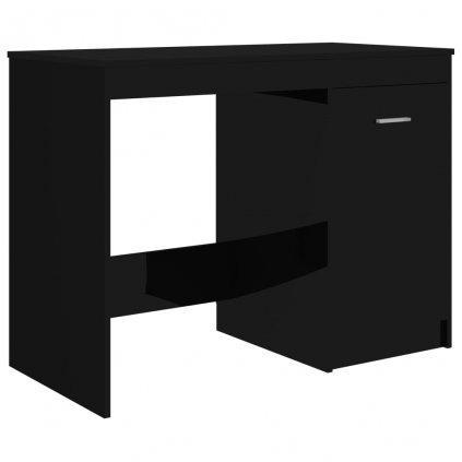 Psací stůl Hardey - dřevotříska - černý s vysokým leskem | 100x50x76 cm