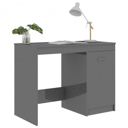 Psací stůl Methuen - šedý s vysokým leskem | 100x50x76 cm