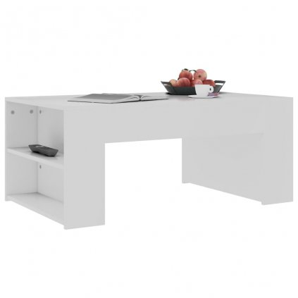 Konferenční stolek Mitchell - bílý - 100 x 60 x 42 cm | dřevotříska