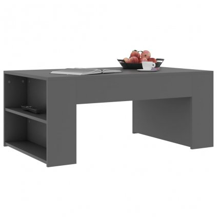 Konferenční stolek Mitchell - šedý | 100x60x42 cm