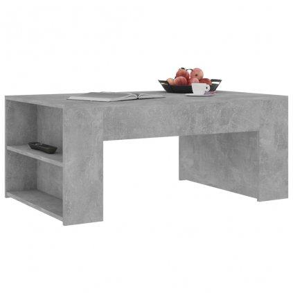 Konferenční stolek Mitchell -  betonově šedý - 100 x 60 x 42 cm | dřevotříska
