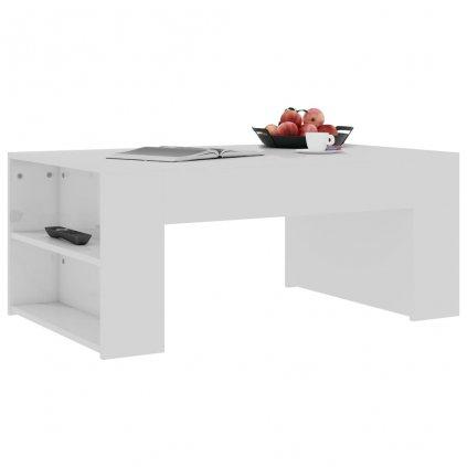 Konferenční stolek Mitchell - bílý vysoký lesk | 100x60x42 cm